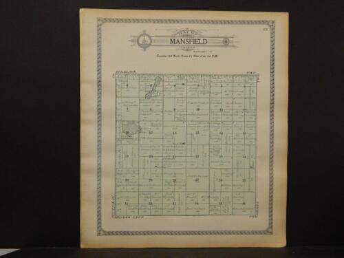 North Dakota, Barnes County Map, c1909, Mansfield Township, Y6#27