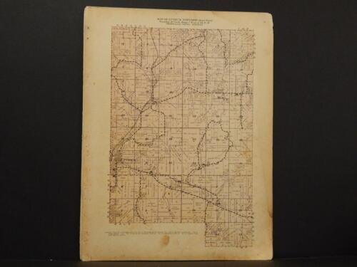 Wisconsin, Trempealeau County Map east Part of Ettrick Township 1930 Y8#13