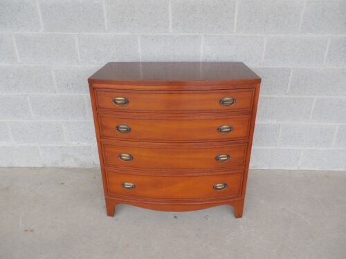 "Henredon Heritage Federal Hepplewhite Style Bow Front Bachelor Chest 32.25""W"