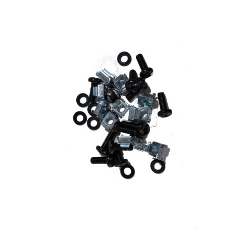 """19"""" RACK MOUNT FASTENERS (12 Pack Incl. Cage Nuts, Screws, Washers)"""