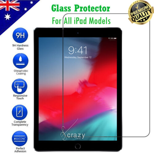 Tempered Glass Screen Protector For Apple iPad 5th /6th Gen Air 1 2 Pro 11 10.5