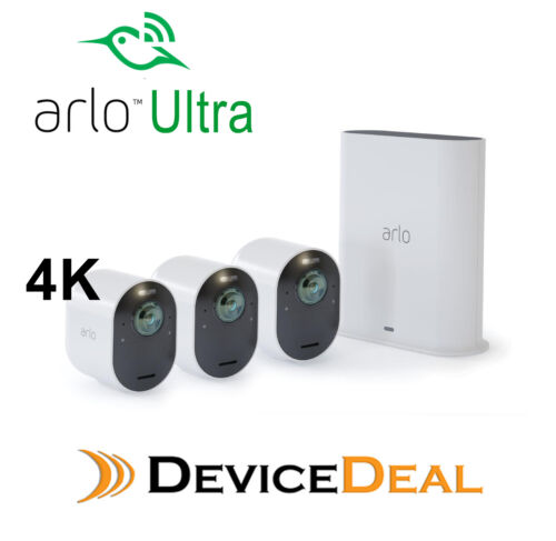 ARLO ULTRA 4K UHD WIRE-FREE SECURITY CAMERA - 3 CAMERAS & SMART HUB VMS5340