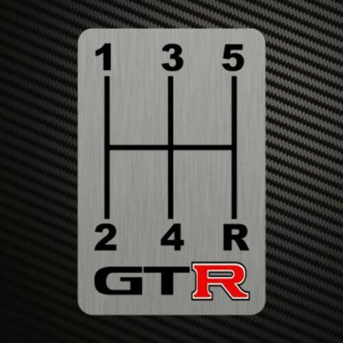 GTR GEARSHIFT H-PATTERNS Sticker Decal Gearbox Transmission Manual for Nissan