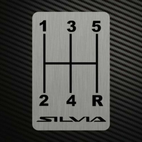 SILVIA S13 GEARSHIFT H-PATTERNS Sticker Decal Gearbox Transmission Manual for