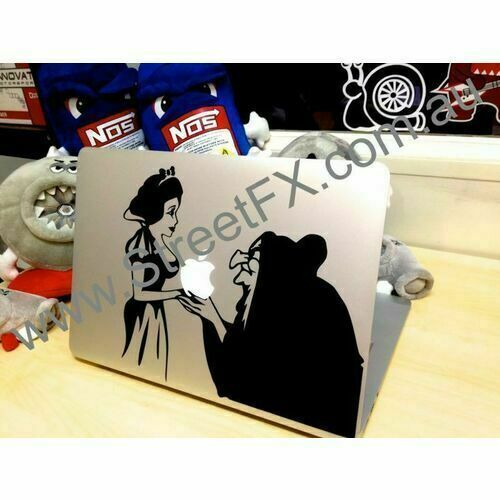 Laptop Snow White Sticker Decal Apple Macbook Dell Laptop MSI Asus Cartoon
