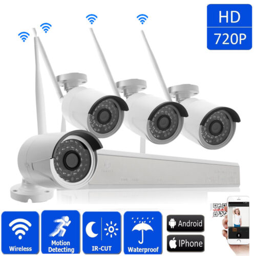 8CH WiFi Outdoor 1.0MP NVR 720P Wireless IR Night Vision Camera Security System