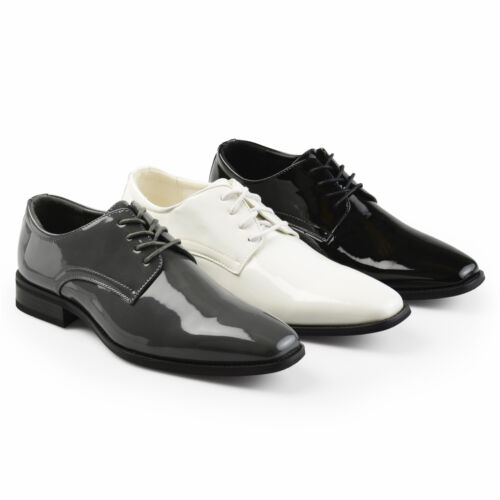 Territory Mens Lace-up Faux Leather Regular and Wide-Width Tuxedo Dress Shoes