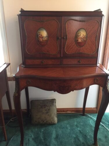 Antique Napolian III  French Writing Desk, 2 Pieces