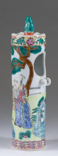 RARE China Chinese Famille Rose Porcelain Bird Feeder Late Qing Dynasty ca. 1900