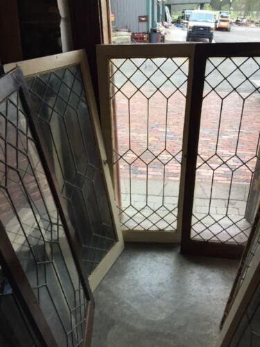 Sg 1413 5 Available Price Each Leaded Glass Window /cabinet Dr 20 X 48""