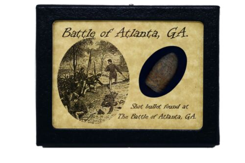 Shot Bullet from The Battle of Atlanta, GA with Display Case and COABullets - 103996