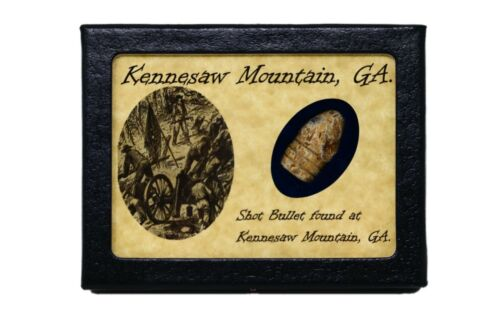Shot Bullet Relic from Kennesaw Mountain, Georgia with Display Case and COABullets - 103996