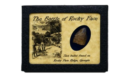 Shot Bullet Relic from Rocky Face Ridge, Georgia with Display Case and COABullets - 103996