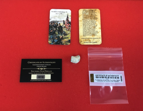 Fired Civil War Bullet from Gettysburg, PA with Information Card & COA Bullets - 103996