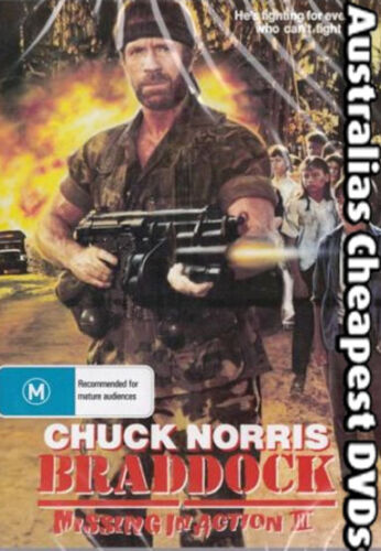 Braddock Missing In Action 3  DVD NEW, FREE POSTAGE WITHIN AUSTRALIA REGION 4