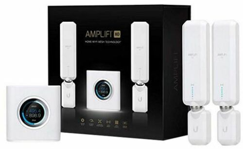 Ubiquiti AMPLIFI AFI-HD High Density Home Router with 2xHD Extenders Wi-Fi Mesh