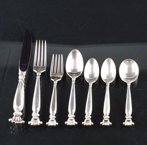 WHITING ROMANCE OF THE SEA STERLING SILVER 7 PIECES PLACE SETTING MINT CONDITION