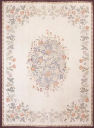 "Antique American Hooked Rug 8'9"" x 11'9"""