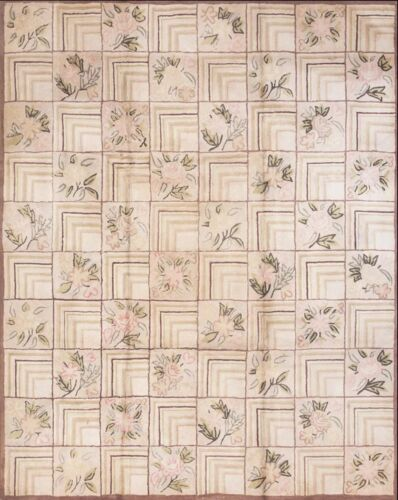 """Antique American Hooked Rug 10'0"""" x 8'0"""""""