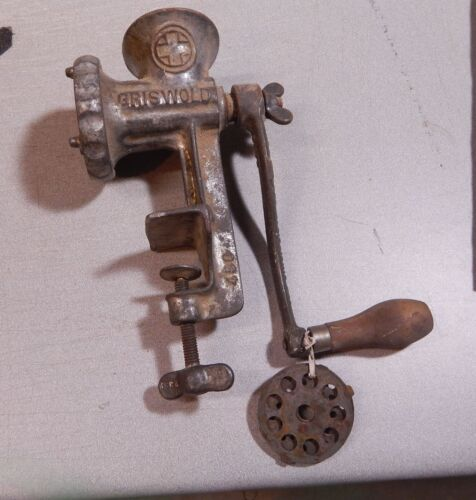 Vintage Griswold No. 1 Combination Meat and Food Chopper with 3 Screens