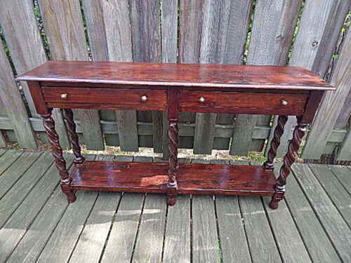 ANTIQUE 55 INCH LONG RENAISSANCE REVIVAL HALLWAY TABLE LOCAL PICK UP ONLY
