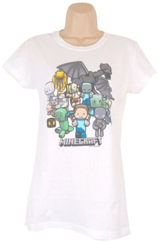 Minecraft T-Shirt Womens Large (Fitted) Party