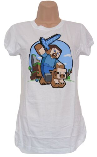 Minecraft T-Shirt Female Large (Fitted)