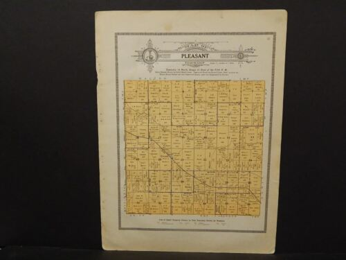 Iowa Poweshiek County Map Pleasant Township  1914   W8#12