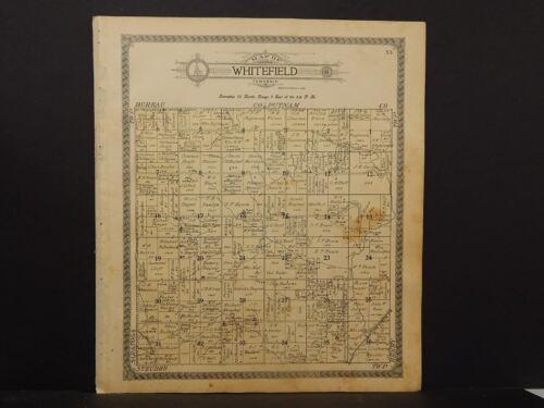 Illinois  Marshall County Map Whitefield Township 1911  J12#62