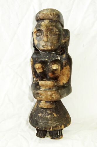 19C/20C Indonesian Nias Island Tribal Carved Ancestral Figure Statue (Eic)
