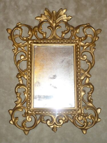 Antique National Brass and Iron Works Rococo Cast Iron Picture Frame