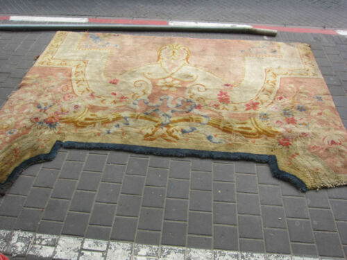 ANTIQUE FRAGMENTS RUG TURKI ? OR FRENCE?  280X160-cm / 110.2x62.9-inches