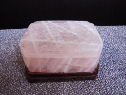 Antique Chinese Late 18th Century Quartz Dragon Storage Box