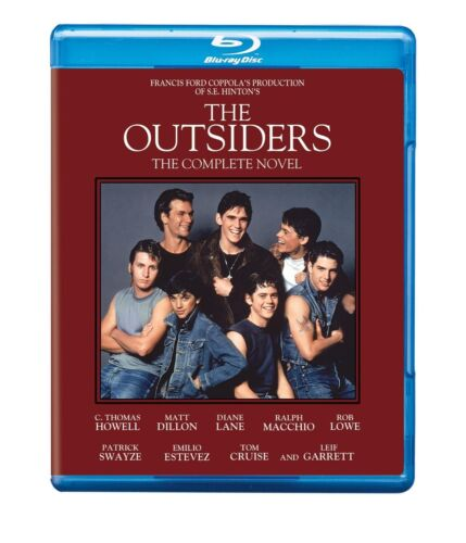 The OUTSIDERS (1983) Complete Novel BLU RAY Patrick Swayze Rob Lowe New & Sealed