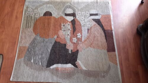 Rare Antique Wool Tapestry/ Blanket Signed Native Peru