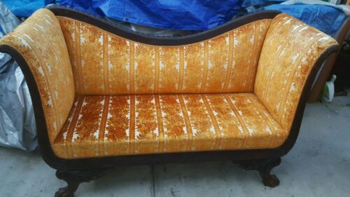 Antique 1830's Federal American Empire Sofa Couch