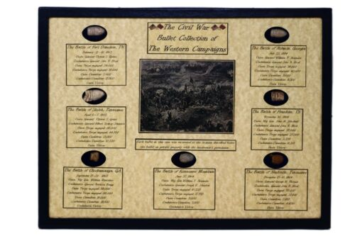 The Civil War Bullet Relic Collection of The Western Campaigns with Case & COABullets - 103996