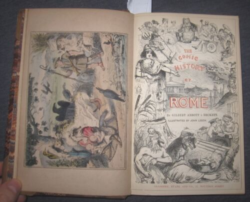 1870 The Comic History of Rome, Divertente storia di Roma,  belle illustrazioni