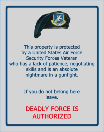 Security Forces Warning Sign  SN 002