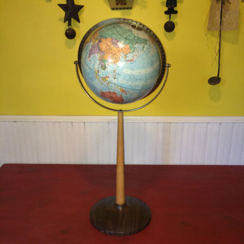 "Replogle World Nation Series 12"" Diameter Raised Globe on Floor Stand"