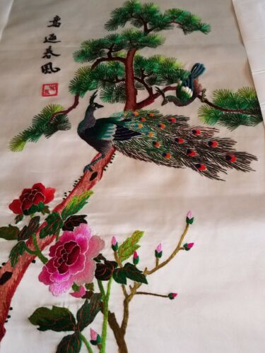 100% silk hand embroidery Chinese picture frame