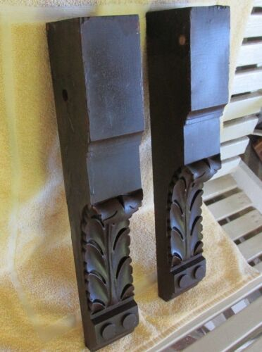 Very Attractive Antique Pair of Wood Interior Corbels, Old House Salvage
