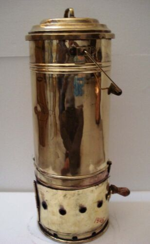 Real ANTIQUE Lunch/ Tiffin Box with Burning POT  -BRASS -Lunch Containers (1945)