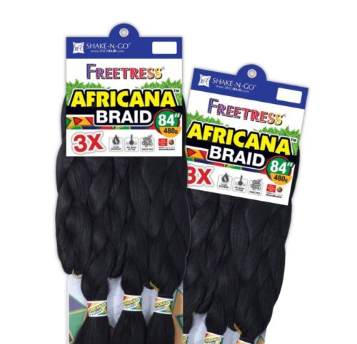 "AFRICANA BRAID 84"" - FREETRESS SYNTHETIC HAIR 100% KANEKALON JUMBO BRAID"