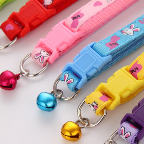 Dog Puppy Cat Kitten Pet Collar Animal Rabbit Lovely With Bell Nylon Fabric