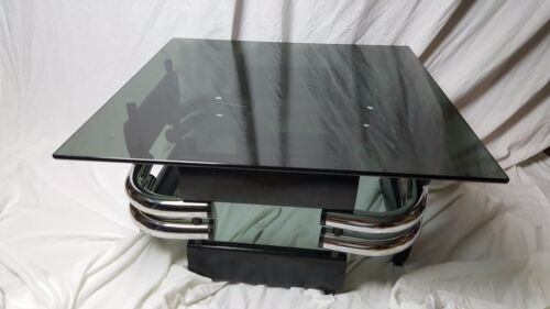 Incredible Streamline Vintage Coffee Table - Atomic Age Jazz Age Art Deco Table