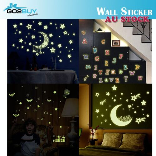 Glow In The Dark DIY Removable Decal Wall Stickers Living Room Bedroom