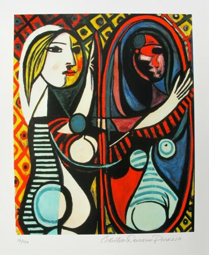 """Pablo Picasso GIRL BEFORE MIRROR Estate Signed Limited Edition Giclee 26"""" x 20"""""""
