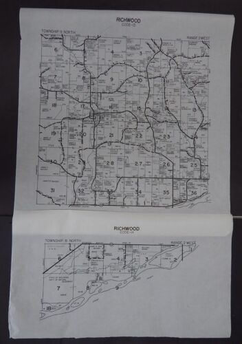 Wisconsin Richland County Map Richwood Township c.2010 2 maps Master
