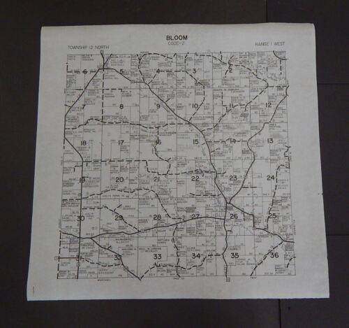 Wisconsin Richland County Map Bloom Township c.2010 Master
